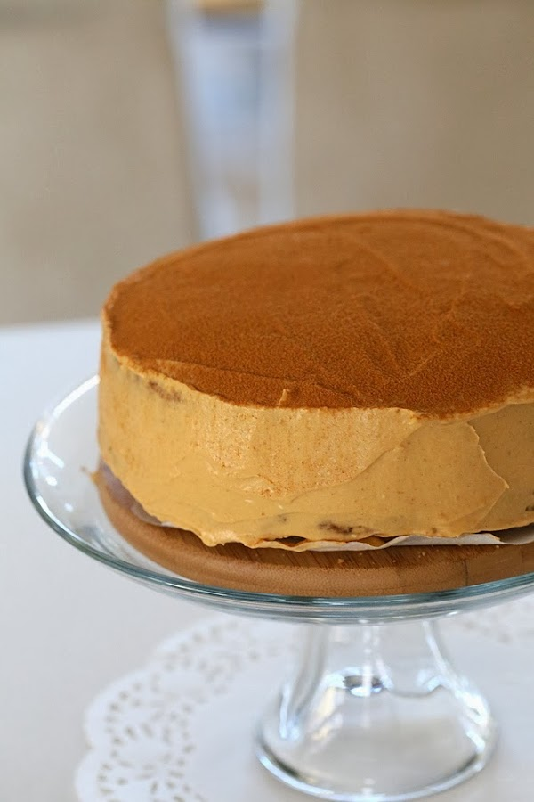 Pumpkin Mousse Cake with Vanilla Spelt Sponge. Vegan Recipe - Vegan ...