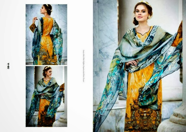 Elegant Digital Lawn Prints