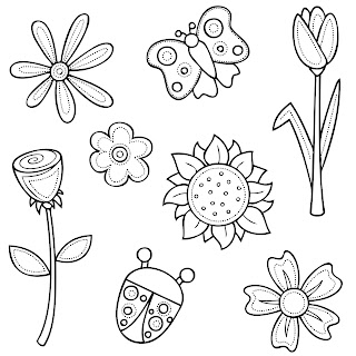 Free 8 Digi Stamps Flowers