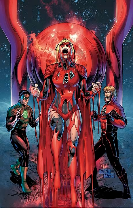 supergirl comic box commentary kara as a red lantern really