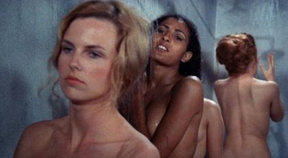 Roberta Collins and Pam Grier showering in The Big Doll House