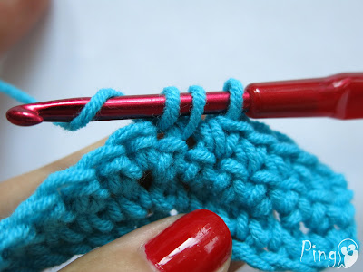 Single Crochet Decrease - step by step instruction by Pingo - The Pink Penguin
