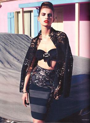 Tali Lennox for Vogue Germany by Horst Diekgerdes