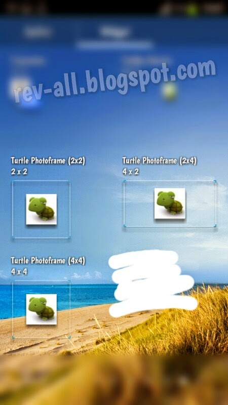 Ukuran widget Turtle Photoframe - widget foto ringan (rev-all.blogspot.com)