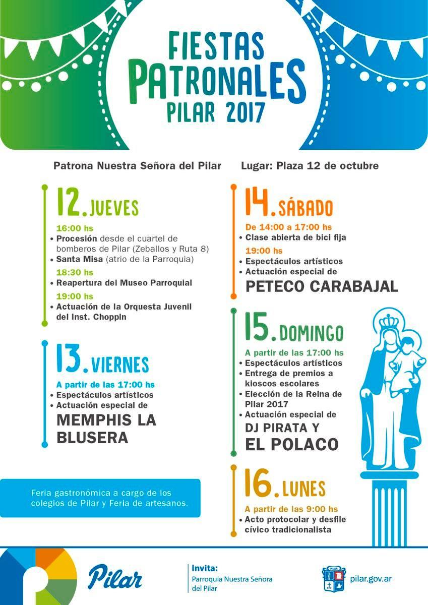 Fiestas Patronales de Pilar 2017