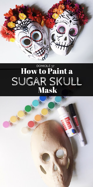 How to Paint an Easy DIY Sugar Skull Mask
