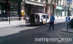 Un véhicule électrique explose en plein Paris