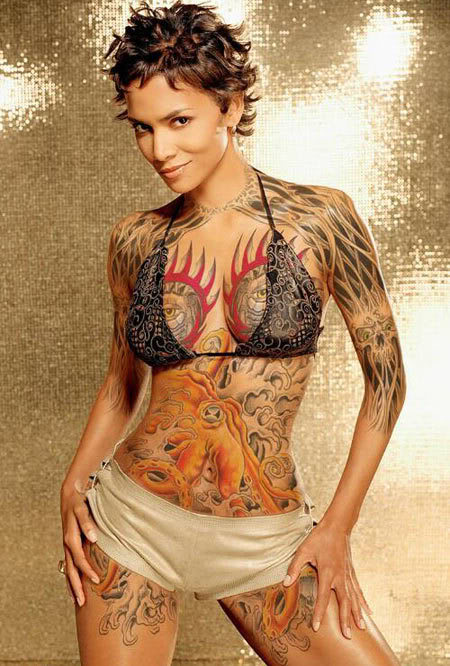 Tattoo body painting tattoo body painting for Nude women tattoo