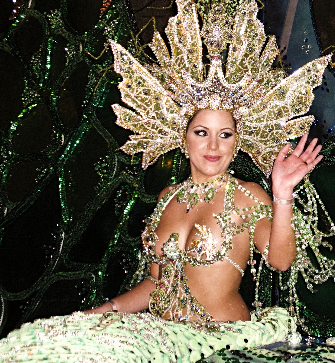 Beautiful Carnaval Princess Drag Queen Woman in Bikini