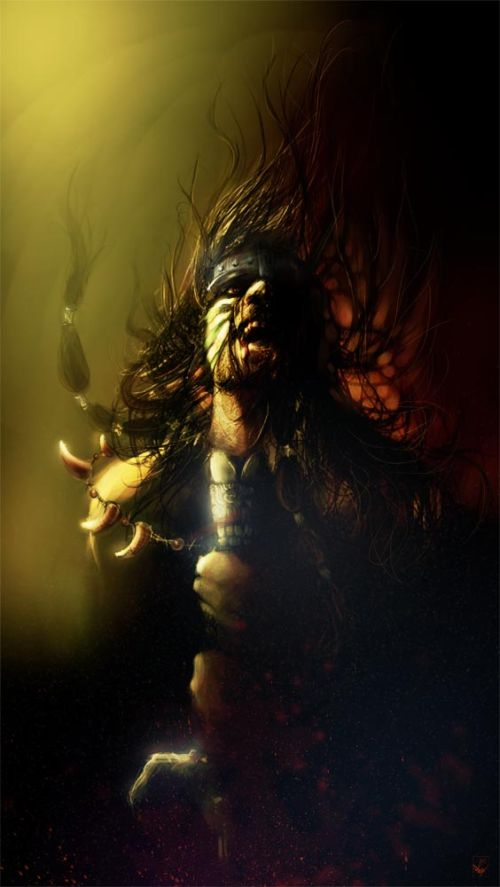 Ania Mitura DalisaAnja deviantart ilustrações fantasia sombria Conan