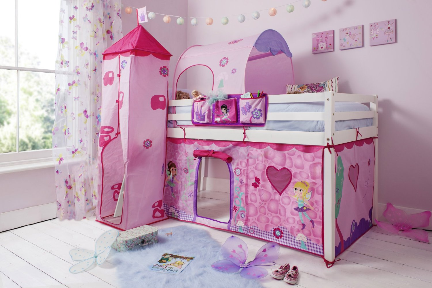 Lit superpose fille princesse maison design for Achat de chambre a coucher