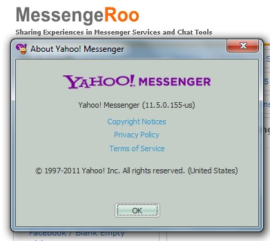 Yahoo Messenger 11.5 version 11.5.0.155