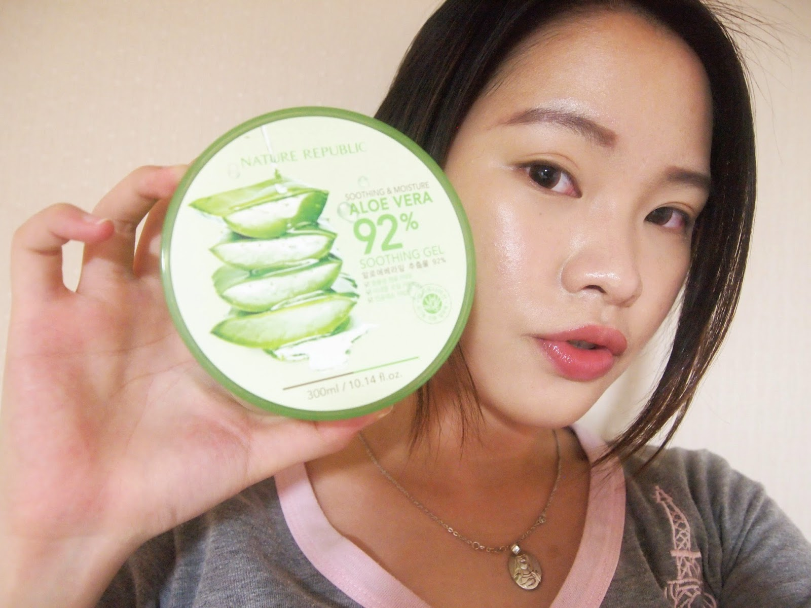 Nature republic soothing and moisture aloe vera 92 soothing gel 300ml - Natural Republic Alovera Soothing Gel Krw 4 400 300ml Hohoho So Let S Meet This Baby She Is One Of The Best Of The Best Of Nature Republic Products
