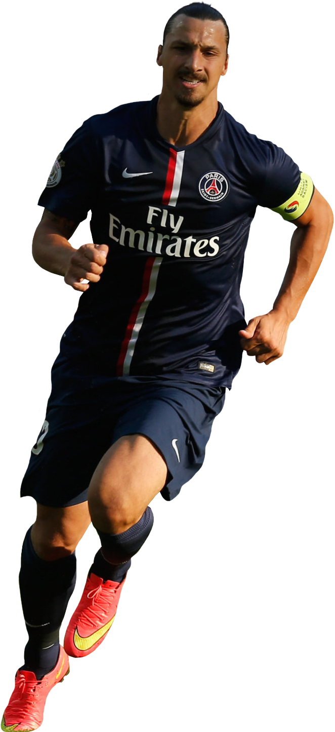 90 Minutos a puro futbol: Renders Paris Saint Germain 2014/15 Zlatan Ibrahimovic 2014