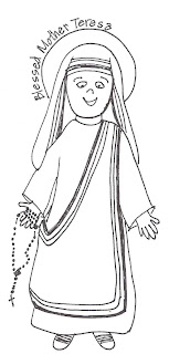 Look to Him and be Radiant: Saints Coloring Pages- Bl. Mother Teresa