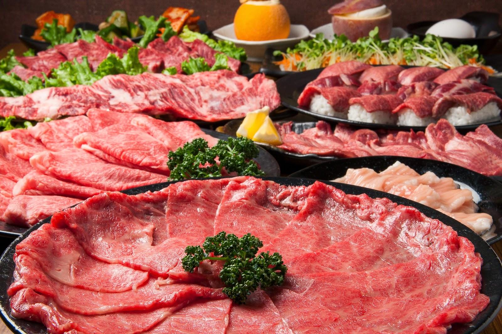 豪華な焼き肉。