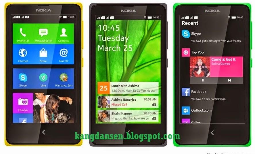 Tampilan Android Seperti Nokia X