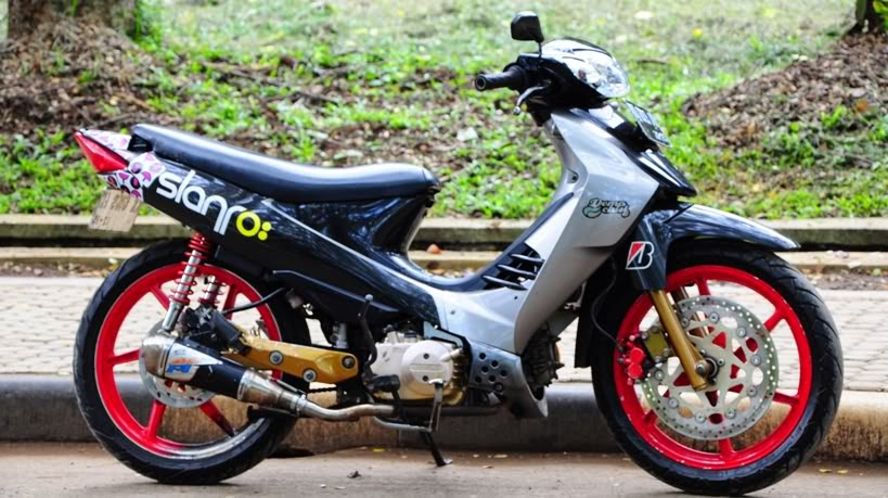 foto modifikasi suzuki shogun sp