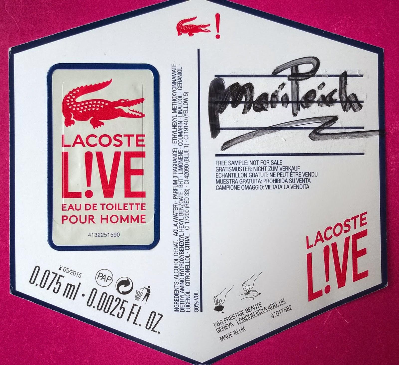 muestra gratis lacoste perfume