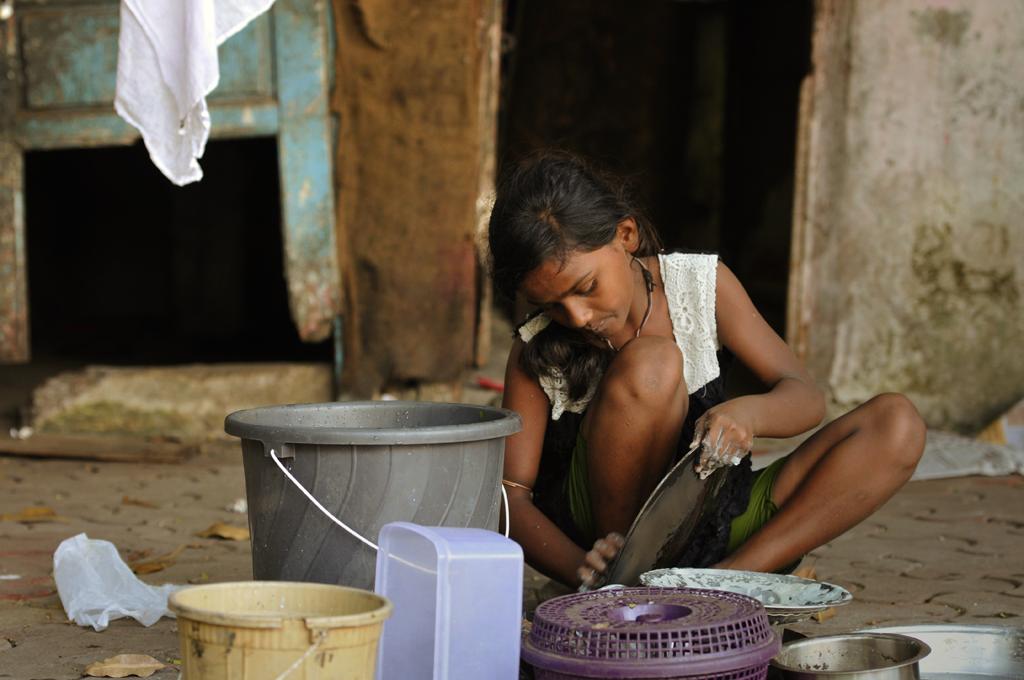 Indian girl in Wadala in India