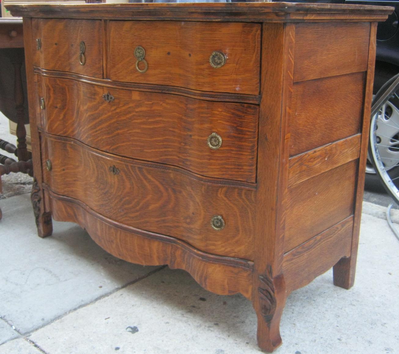 Tiger Oak 1920s Dresser SOLD - Uhuru Furniture & Collectibles: Tiger Oak 1920s Dresser SOLD