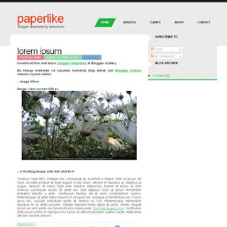 PaperLike Blogger Template