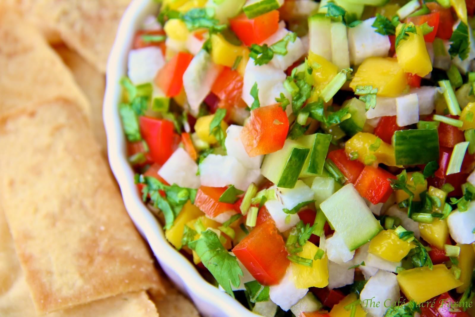 Mango, Jicama & Cucumber Salsa/Relish/Salad   The Café Sucre Farine