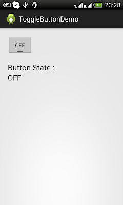 Android Toggle Button Off