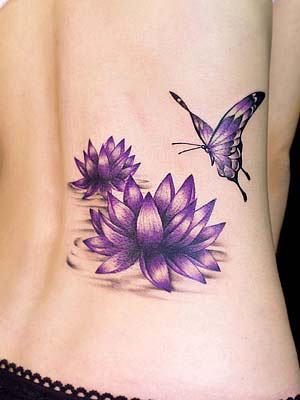 Dicas de Tatuagens Femininas de Borboletas e Flores