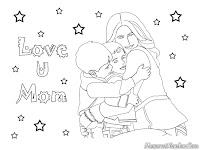 Mewarnai Gambar-Gambar Hari Ibu