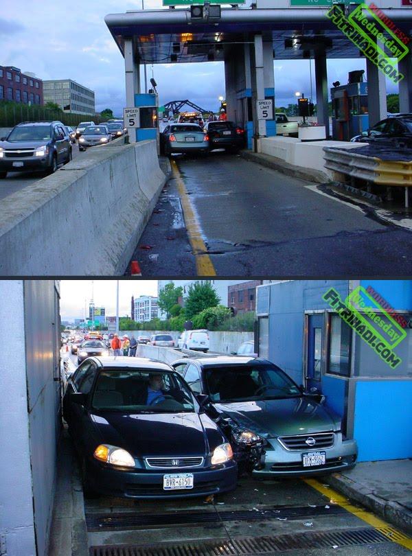gambar nissan dan honda accident toll kemalangan ngeri 2011