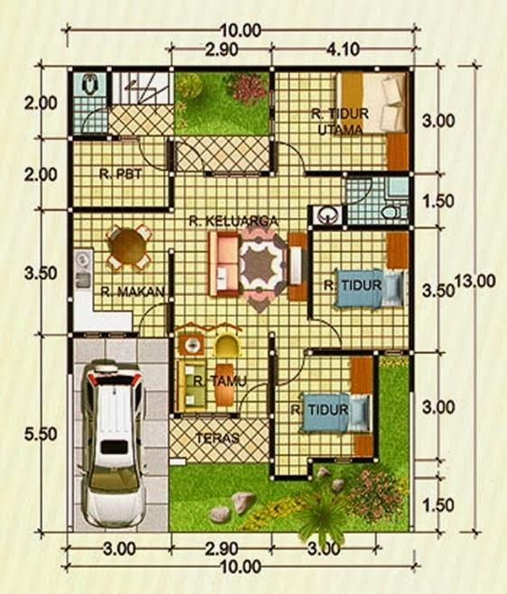 desain rumah type 90