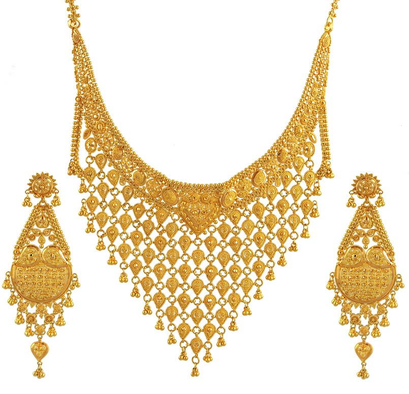 Jewelry Designs Pure Gold Necklace