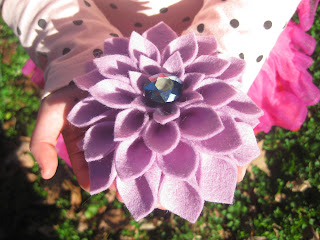 100% Wool Felt Flower by The Speckled Kat on etsy