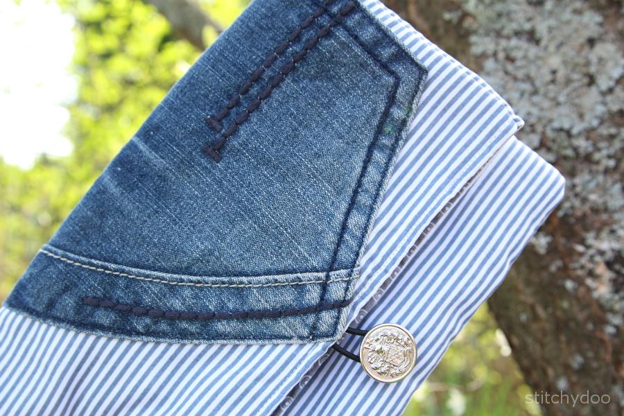 Taschenspieler 2 Sew Along | Clutch - casual mit Jeams und maritimer Note