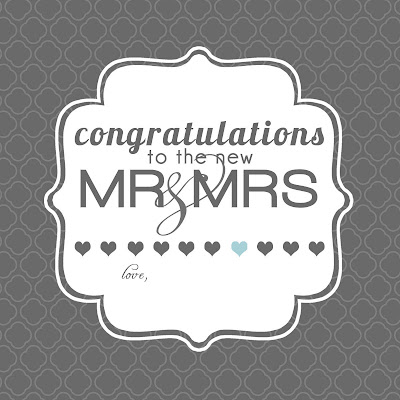 Printable Wedding Gift Card Free : Printable Wedding Gift Tags on Grey Square Designs Freebie Wedding ...