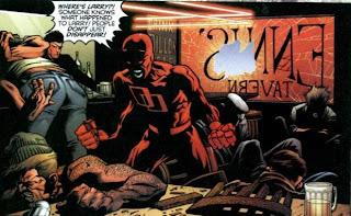 Cena da saga em quadrinhos Demolidor - Diabo da Guarda (Panini)