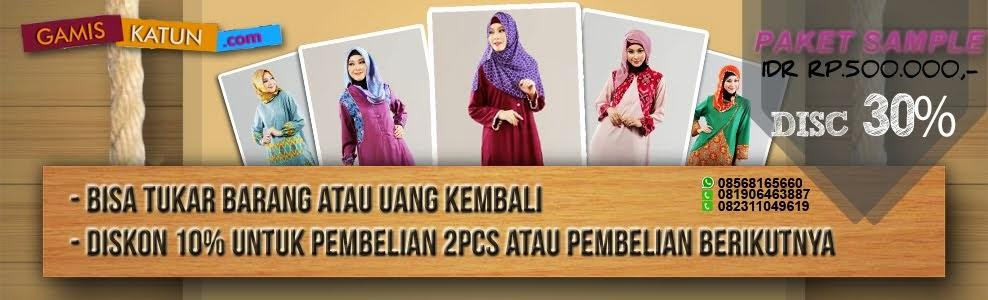 Baju Muslim Gamis Katun Jepang Murah Cantik Grosir Terbaru Online