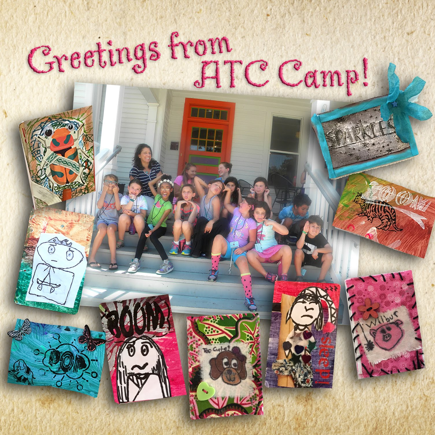Stencilgirl talk greetings from atc camp greetings from atc camp kristyandbryce Images