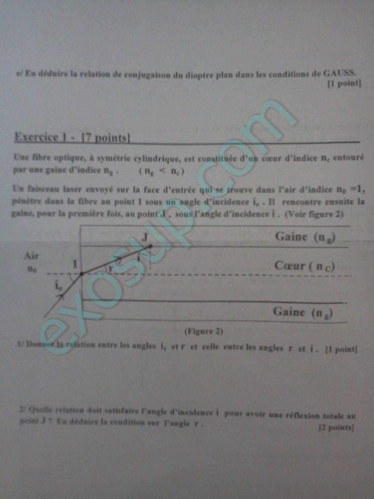 Examen'optique géométrique corrigé pdf