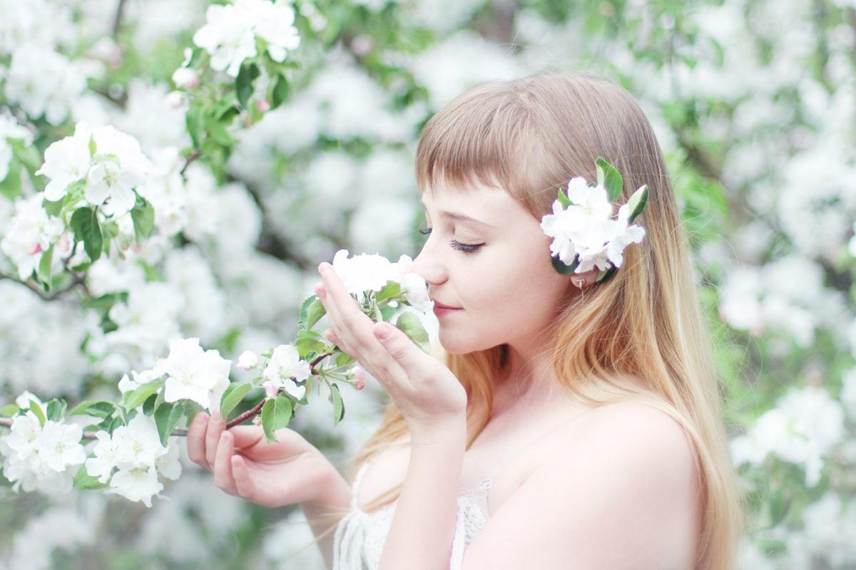 Куприянова, фотошкола, Солотин, девушка, весна, цветы