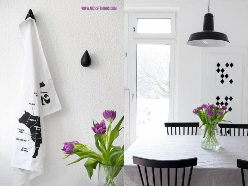 Unsere Küche in Schwarz und Weiß & neue Industrielampe - Nicest Things