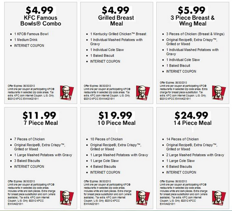 Kfc com coupons printable