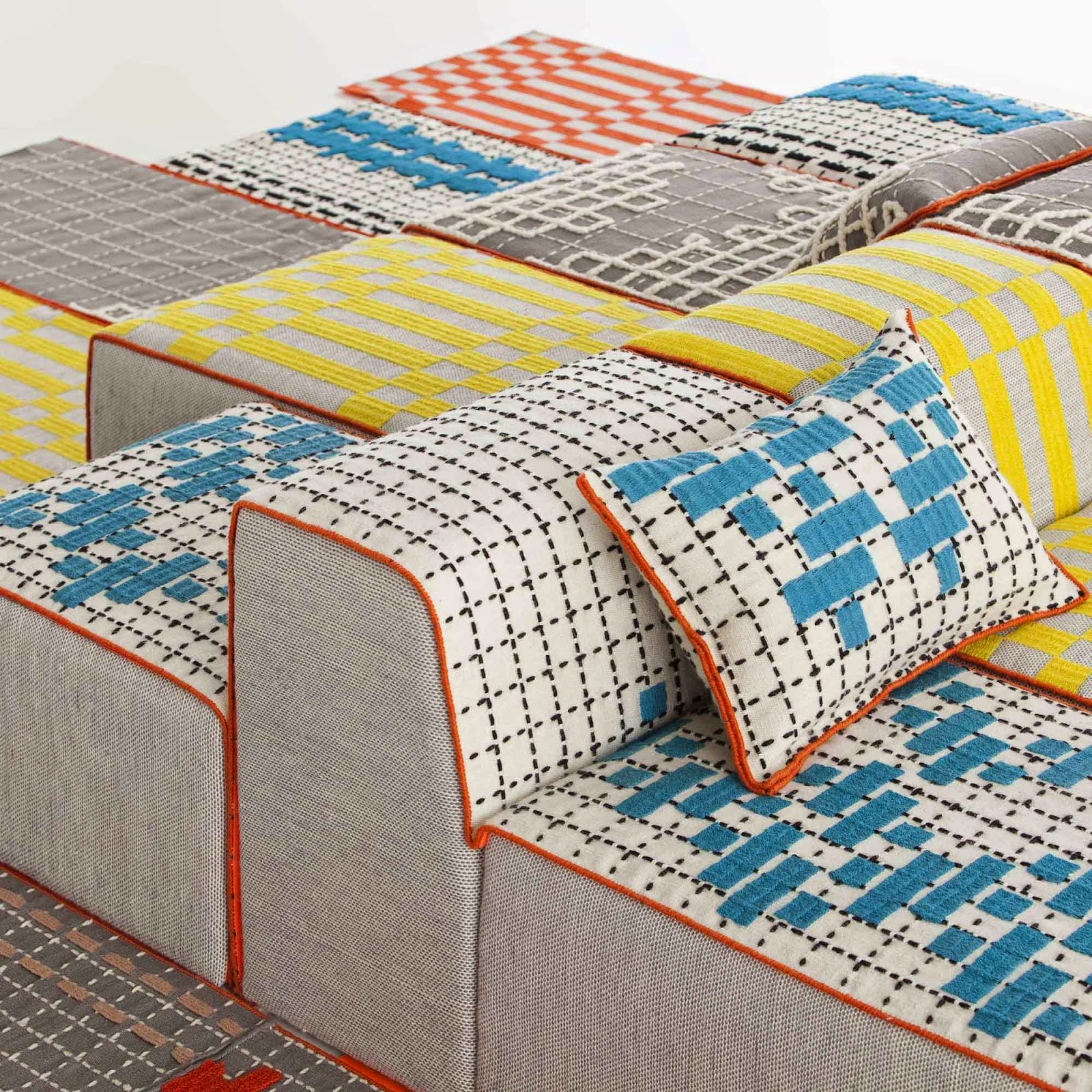 BANDAS carpet, module and ottoman