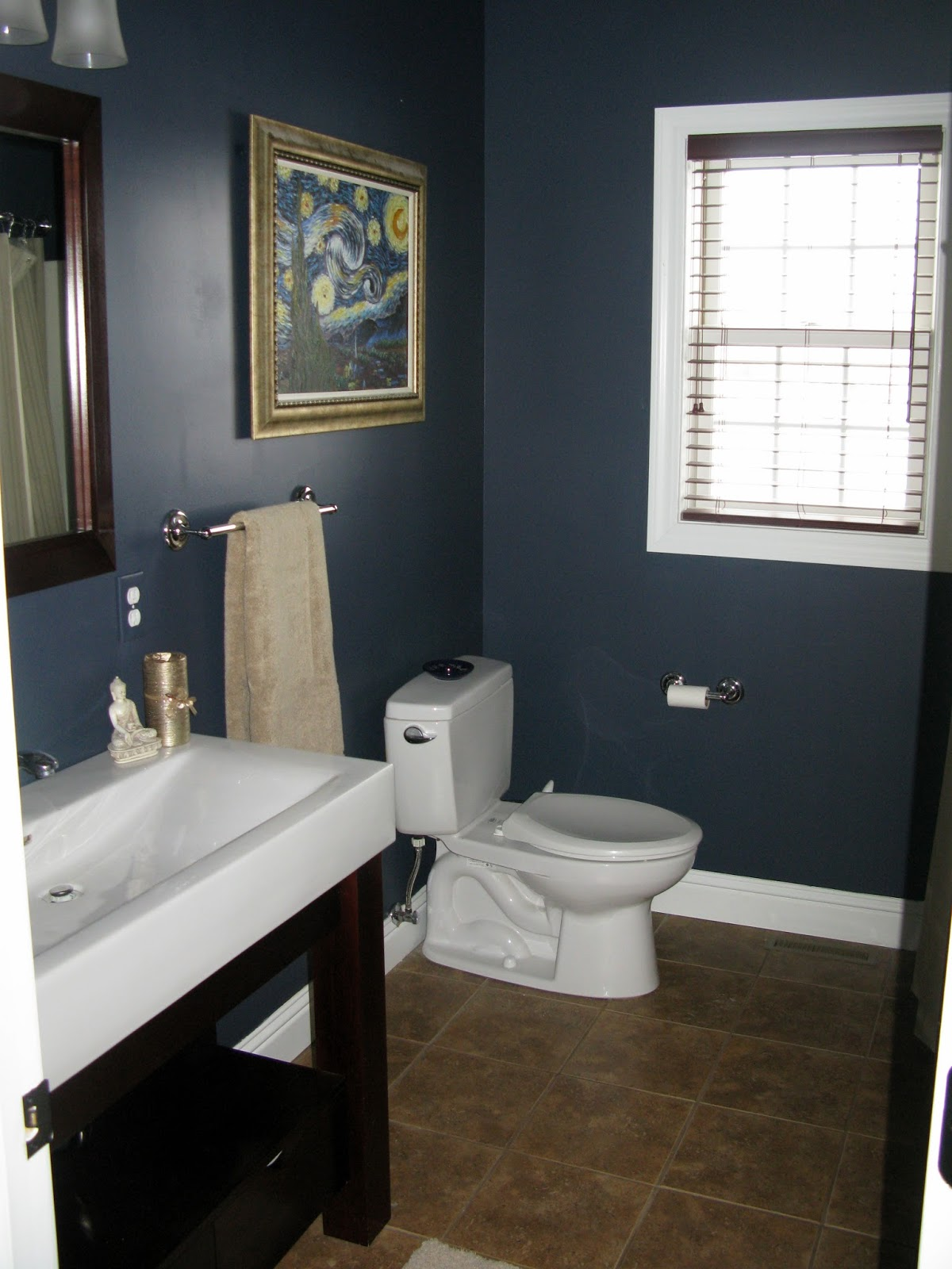 Navy bathroom 28 images paint color portfolio blue for Navy bathroom accessories
