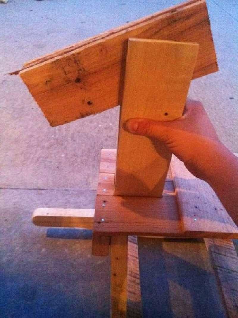 Mueblesdepalets.net: Caballito de madera y balancín para niños de palets