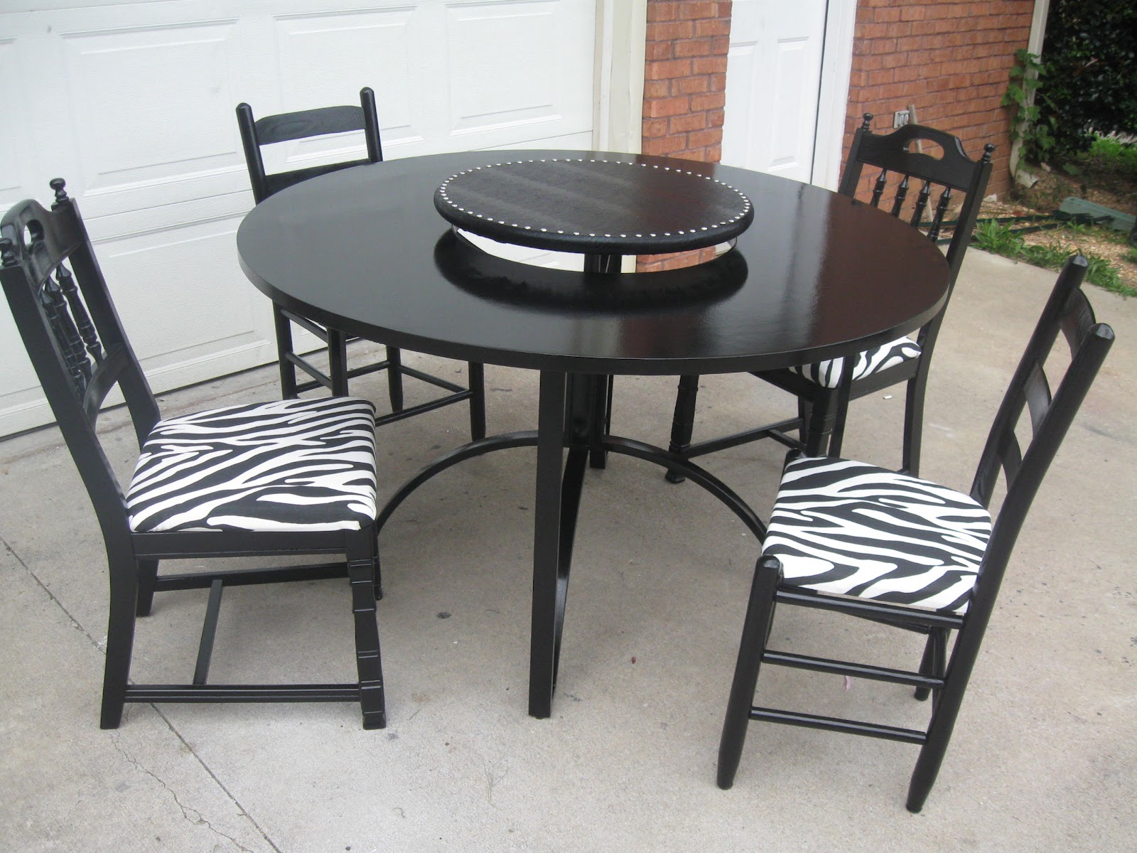 That s Not Junk Refurbished Recycled Furniture Zebra Print