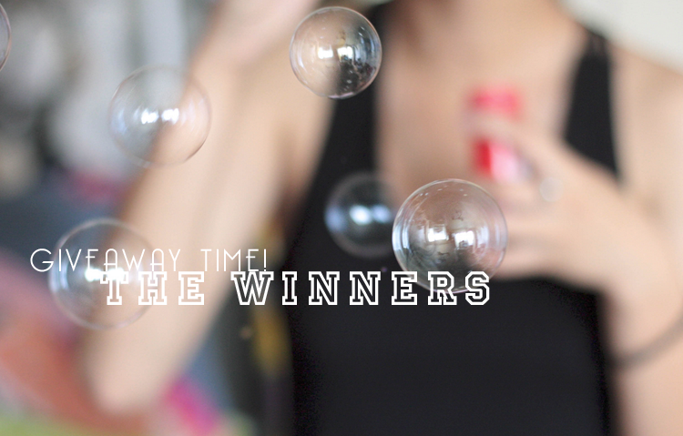 ➳ and the winners are.....