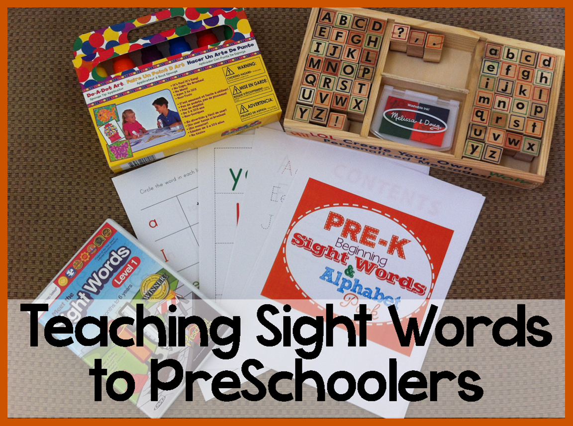 Teaching Sight Words to Preschoolers | The Intentional Momma