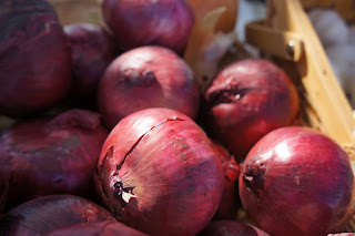 Onions from Shamba Farms at the West End Farmers Market taken by Knerq